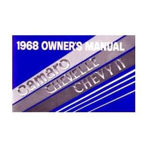 1968 CHEVROLET CAMARO CHEVY II Owners Manual User Guide Automotive