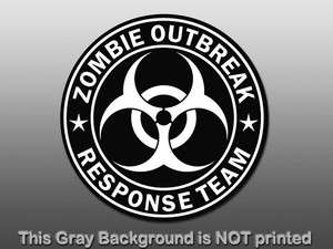 Outbreak Response Team Sticker   decal biohazard sign star funny GO