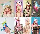 Cute Handmade Owl Newborn Baby Child Girls Boys Knit Hat Cap