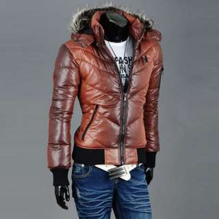 Mens Korea Style Casual Slim Fit Winter Jackets  size US