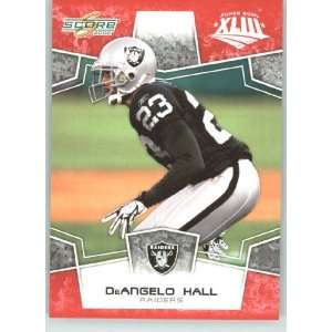 Edition Super Bowl XLIII # 226 DeAngelo Hall   Oakland Raiders   NFL