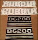 KB6200 New Kubota Compact Tractor Hood Decal Set for Model B6200