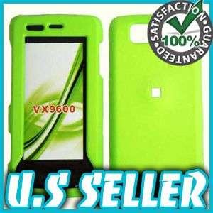 RUBBER GREEN HARD SNAP CASE COVER FOR LG VERSA VX9600