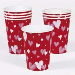 Valentine Heart Paper Cups Case Pack 13