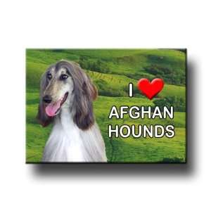 Afghan Hound I Love Afghan Hounds Fridge Magnet No 2