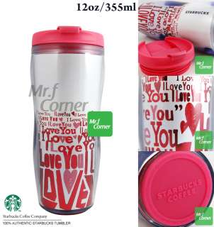 star459 starbucks 12oz pink white love heart valentines day tumbler