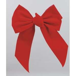 Holiday Trim #7346 5 Loop RED Velvet Bow