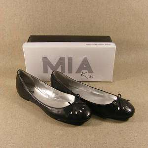 NEW Girls Black Leather Flats by MIA kids
