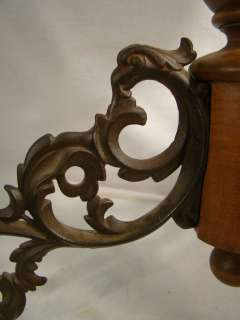 FIGURAL Old VICTORIAN CASTLE Cast Iron GRIFFIN Bird PIANO STOOL
