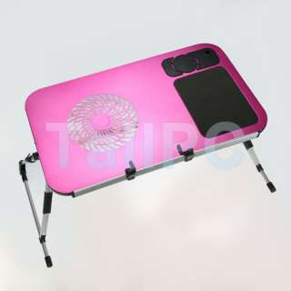 New Pink Portable Bed Cooling Table for Laptop Notebook USA
