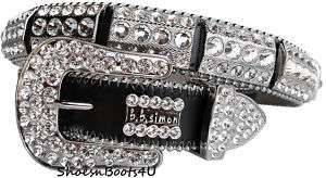 simon SWAROVSKI CRYSTAL WESTERN BELT BB XL 36 $340