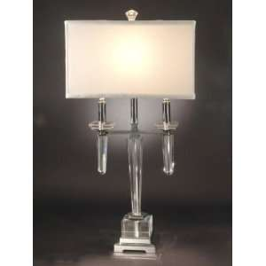 Dale Tiffany Lowell Table Lamp with Chrome Finish