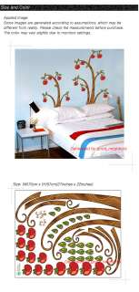 Apple Tree Removable Instant Wall Sticker Decal ECO18