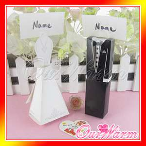 10 Tuxedo Dress Gown Wedding Place Card Gift Favor Box
