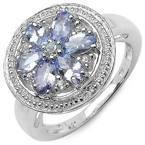 1.38 Carat Tanzanite Ring with 0.22 ct. t.w. Multi Gems in