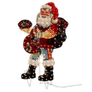 Kansas City Chiefs 44 Light Up Santa Lawn Figure   NFL Football