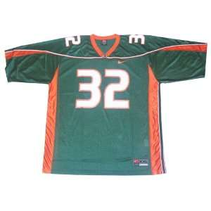 Nike Miami Hurricanes #32 Green Replica Football Jersey