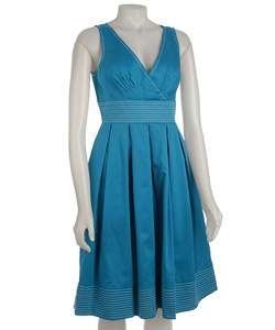 PSStyle Womens Sleeveless Surplice Dress