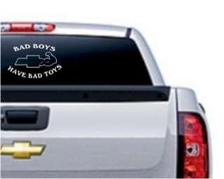 Bad Boys Chevy Decal Sticker   Car Truck Window Laptop