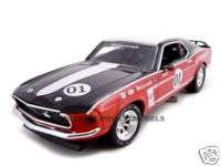 1969 FORD MUSTANG BOSS 302 #1 RACER 124 DIECAST MODEL