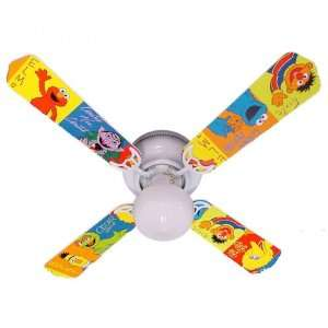 Fan Designers 42FAN KIDS SSEBB Sesame Street Elmo Big Bird Ceiling Fan