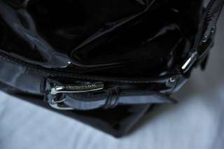 DOLCE & GABBANA Black MISS LOOP Patent Leather Bowler Bag Handbag