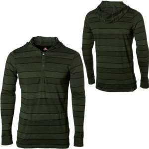 com Quiksilver Whitner Hooded Henley   Mens Marsh Green, M [Apparel