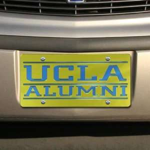 UCLA Bruins Gold Mirrored Alumni License Plate Sports