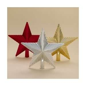 of 24 Red, Silver & Gold Shatterproof Star Christmas Tree Toppers 8