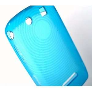 New Baby Blue Circle Crystal Candy Skin Blackberry 9500
