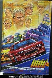 1989 Chevrolet Camaro Race Car Poster Petty Earnhardt