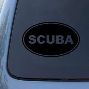 SCUBA EURO OVAL   Dive   Vinyl Car Decal Sticker #1740  Vinyl Color