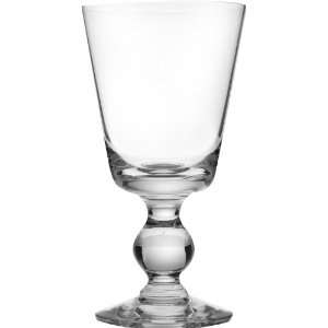 Of 6 French Mouth Blown Bocage Wine Glass, 7 Ounce