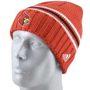 adidas Louisville Cardinals Red Watch Cuffed Knit Beanie