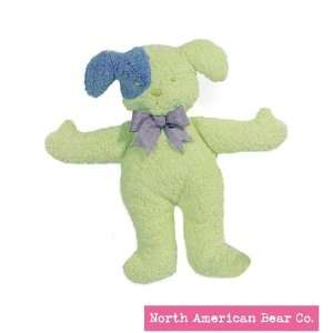 Green Dog Pastel Pancake Rattles by North American Bear Co