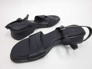 KENNETH COLE REACTION Black Leather Sandals Sz 7.5