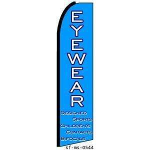 Eyewear Extra Wide Swooper Feather Business Flag Office