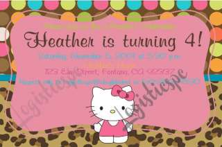 Hello Kitty Birthday Invitations / Choose from 21 Designs