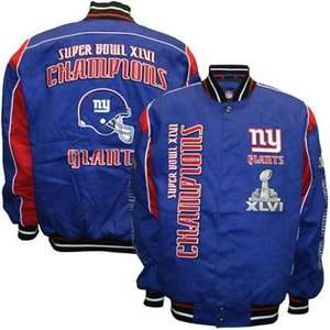 NEW YORK GIANTS BIG BLUE SUPER BOWL XLVI JACKET BY GIII
