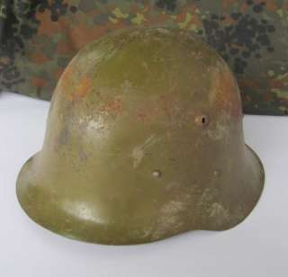 WWII ORIGINAL GERMAN TYPE M36 COMBAT STEEL HELMET