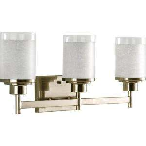 Progress Lighting Alexa Collection Brushed Nickel 3 light Vanity
