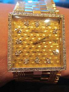 Juvenia Automatic 18K Solid Yellow Gold Diamond Mens Watch