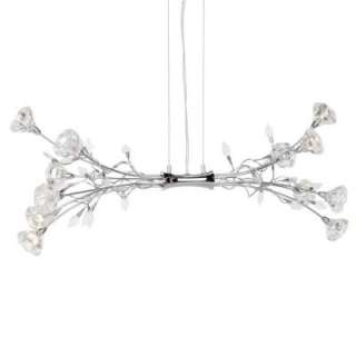 Hampton Bay Rosetta 12 Light Hanging Chrome Pendant HD132388 at The