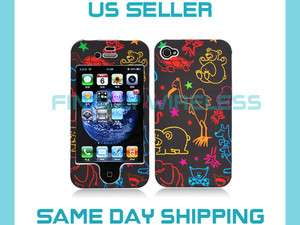 Animals Zoo Cute Print Design Case Cover Apple iPhone 4 4S ALL