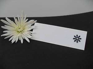 12 X FLOWER DAISY WEDDING PLACE CARDS WITH GEM