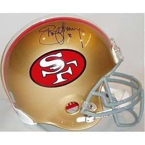 Steve Young Autographed Helmet   Replica Sports