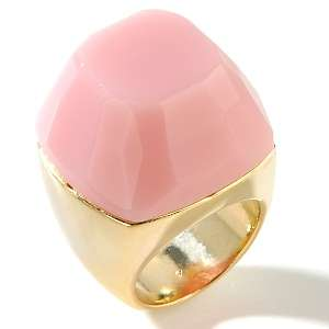 Tori Spelling Pink Gem Goldtone Cocktail Ring