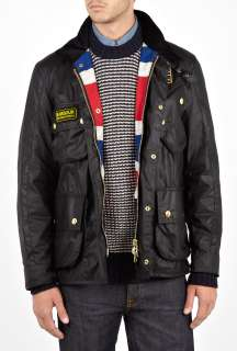Black Union Jack International Jacket by Barbour   Black   Buy Jackets