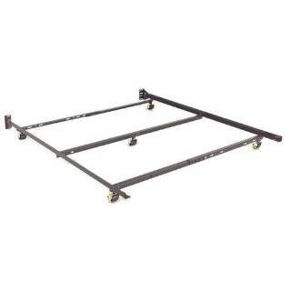 Full / Queen Low Profile Adjustable Sturdy Metal Bed Frame w/ Rug