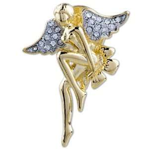 Golden Crystal Pixie Brooches And Pins Pugster Jewelry